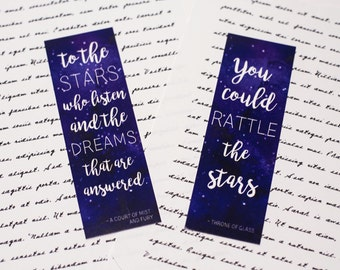 Throne of Glass -or- ACOMAF Inspired Bookmark- Bookish gifts