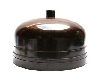 Antique 40s French bakelite YALACTA yogurt maker, With its PYREX glass pots, Cloche system