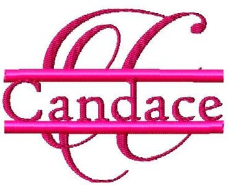 Machine Embroidery Design - Candlescript Split Script Font- Instant Download- 4 X 4 FONT
