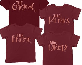 Mommy and Me Matching Outfit   Matching Mother Daughter Outfit   The Original   The Remix   Unisex Clothing   Matching Shirts   Mom Life