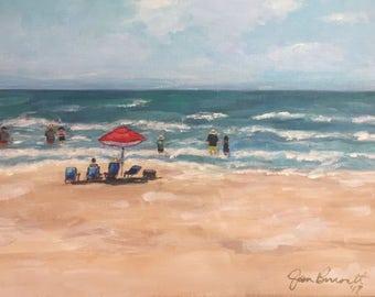 "Original Acrylic Painting on canvas ""Last Summer"" 11 x 14"