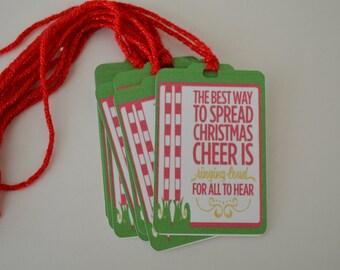 Elf Christmas Tags - Christmas Cheer Gift Tags