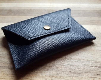 Leather purse - leather coin purse -leather wallet - midnight blue