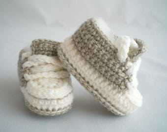 Baby Shoes / Crochet Trainer Style Baby Shoes / Crochet Baby Shoes / Crochet Baby Slippers / Crochet Baby Trainers / Crochet Baby Booties