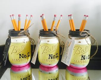 End of Year Teacher Gift - Teacher Mason Jar - Teacher Gift - Teacher Appreciation - Pencil Holder