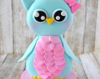 Owl Cake Topper, Owl Theme Birthday, Baby Owl Cake Topper, Owl Theme Baby