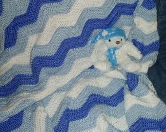 Blue zig zag blanket