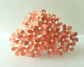 12mm small peach paper flowers / peach flowers