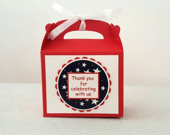 4th Of July party favors / fourth of July favor boxes / 4th of July party / 4th of July party favor boxes
