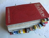 300 page junk journal, smash book, art journal - The Undertow - vintage hardcover altered book journal