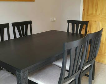 SOLD=Solid wood table and 6 chairs