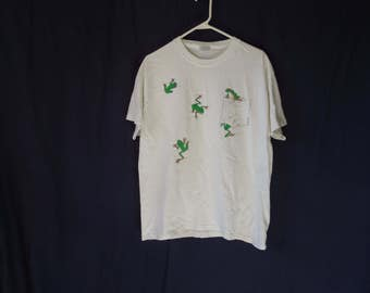90s Frog Pocket Silly T-Shirt
