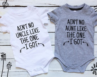 Ain't No Aunt/Uncle Like The One I Got, Baby Gift Set, Aunt Uncle Baby Clothes, Twin Gift Set, I love my Aunt And Uncle, Aunt Uncle Gift Set