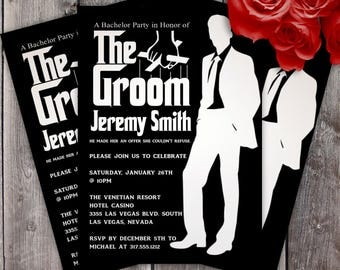 The Groomsman Godfather Style Bachelor Party Invitation