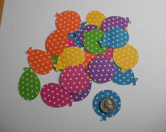 Balloons Polka Dot Die Cut Card Stock  Embellishments Confetti Scrapbooks Birthday Cards