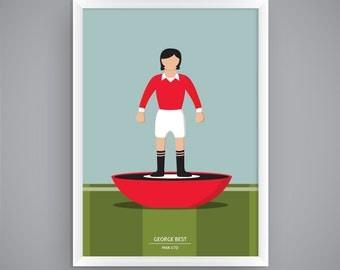 George Best - Man Utd - Subbuteo Poster