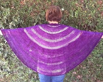 Royal purple lacy shawl