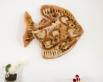 Ceramic Fish 3D Wall Art Decor Sculpture | Lake House room, ocean home decoration | Hostess, fathers day gift for him | Birthday gifts