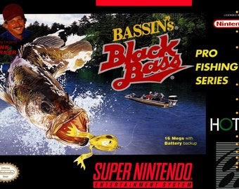 SNES Bassin's Black Bass - Repro Box and Insert NO Game Included