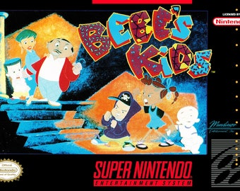 SNES Bebe's Kids - Replacement Box and Insert NO Game Included