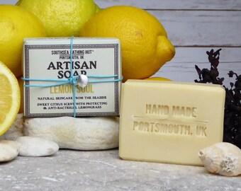 Lemon Artisan Soap from the Coast // Handmade Soap, Natural Soap, Vegan Soap, Lemon Soap, Skincare, Facial, Essential Oil Soap