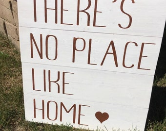 There's No Place Like Home <3 Wooden Sign
