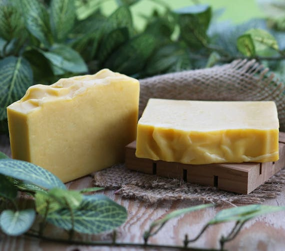 Organic Cedar Mint Handmade Soap, Organic Soap, Coconut Milk Soap, Vegan Soap
