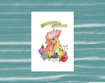 Veggie/Vegan Chicken's 'Wings are for flying, not for frying' Print