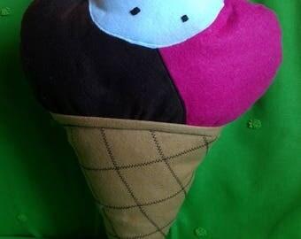 Strawberry Chocolate chocolate chip ice cream cone cushion gift idea