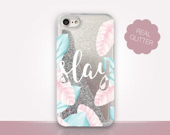 Slay Glitter Phone Case Clear Case For iPhone 8 iPhone 8 Plus - iPhone X - iPhone 7 Plus - iPhone 6 - iPhone 6S - iPhone SE  iPhone 5