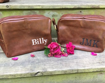 Men's Personalized Shaving Bag, Groomsman Gift, Fathers Day Gift, Gifts for Him