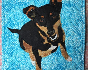 Pet Portrait Art Quilt
