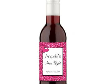 12 Personalised Hen Party Wines - 187ml