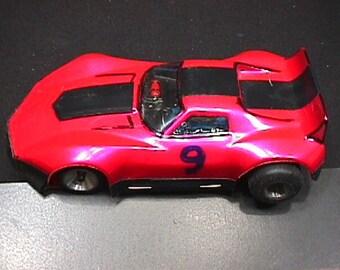 A Vintage 1/24 Scale Slot Car Race Car Ready to Race   # 12