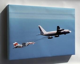 Canvas 24x36; Convair Uc-880 Refuels F-14D Super Tomcat Aircraft