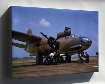 Canvas 24x36; Douglas A-20C-Bo Havoc At Langley Field, Virginia (Usa), In July 1942. Since The Aricraft Wears The Number 635