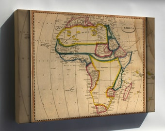 Canvas 24x36; Africa Map 1812