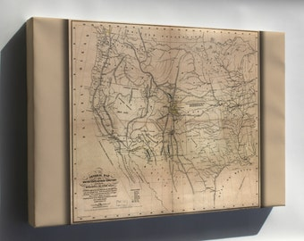 Canvas 16x24; Map Of The United States 1859