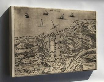Canvas 16x24; Map Of Malta, 1563