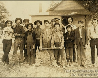 16x24 Poster; Glass Worker Baseball Team Muncie Indiana 1908 By Lewis Wickes Hine