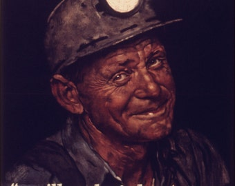 16x24 Poster; Mine Americas Coal By Norman Rockwell 1941