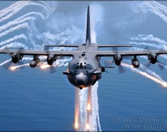16x24 Poster; Ac-130 Spectre Gunship P2