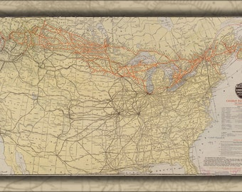 16x24 Poster; Map Of Canadian Pacific Railway Railroad 1912