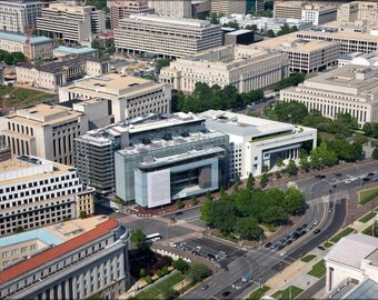 16x24 Poster; Aerial View Of The Newseum