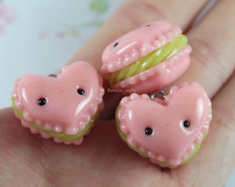 Watermelon Heart Dessert - Polymer Clay Charms, Polymer Clay Jewelry