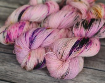 Hand Dyed Yarn - Sparkle Sock - Punk