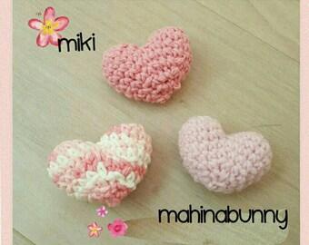 PUFFY HeaRTs, Crochet hearts, amigurumi hearts for valentine's day, kawaii hearts