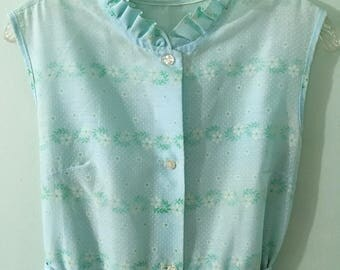 1960s Vintage Maxi Dress/Full Length Dress/Boho/Hippie/Bohemian