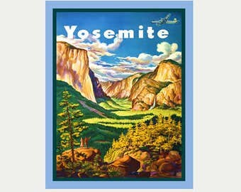 Yosemite Park Decal - Yosemite National Park Sticker - Vintage Style Decal - Yosemite RV Decal - Laptop Decal - Yosemite Car Decal - ST130