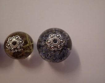 Bead caps 14 mm  silver colour 5pcs